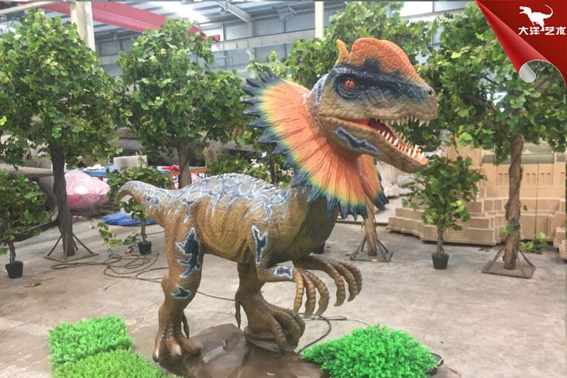 仿真双冠龙,出售大型仿真恐龙模型